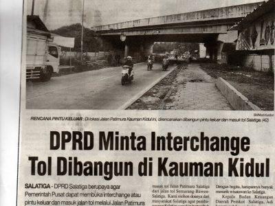 DPRD Minta Interchange Tol Dibangun di Kauman Kidul