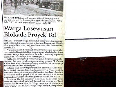 Warga_Losewusari_Blokade_Proyek_Tol