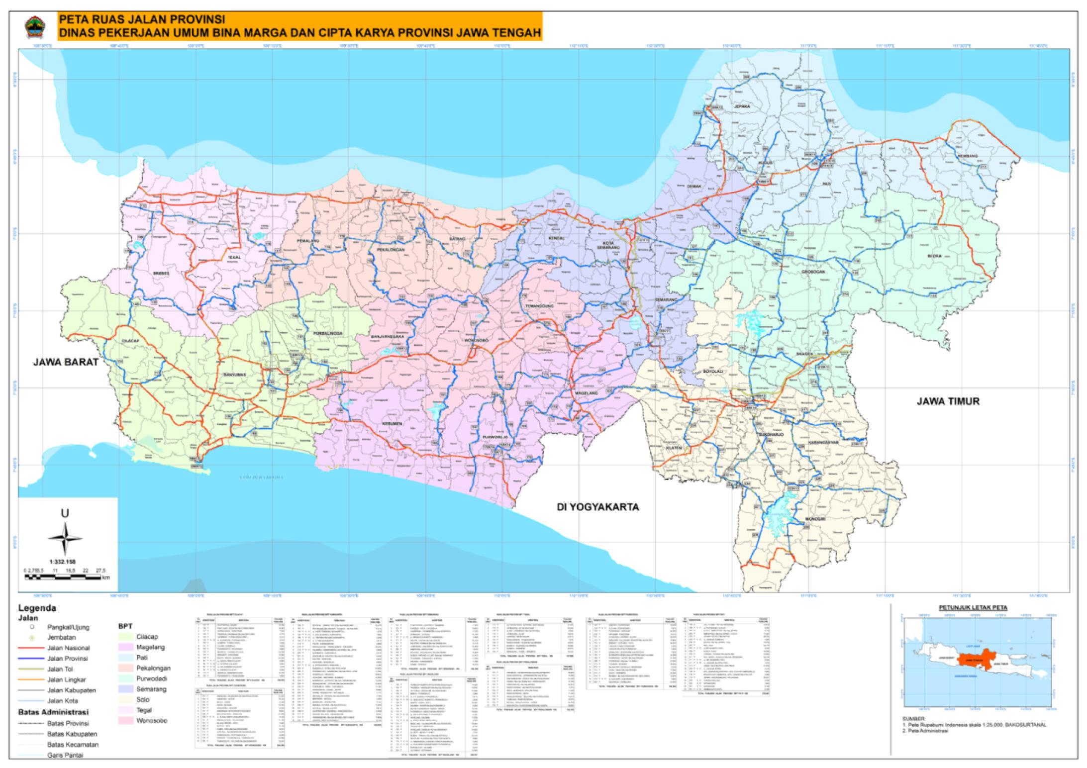Informasi Jalan Provinsi Dinas Pu Bina Marga Dan Cipta Karya Provinsi Jawa Tengah